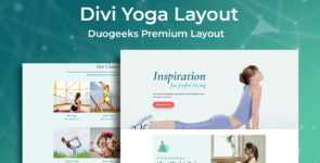 Divi Yoga Layout on Divi Cake