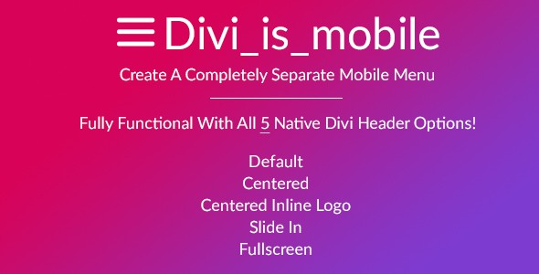 Divi is mobile a separate mobile menu premium divi - Divi mobile menu ...