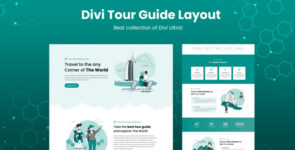 Divi Tour Guide Layout on Divi Cake
