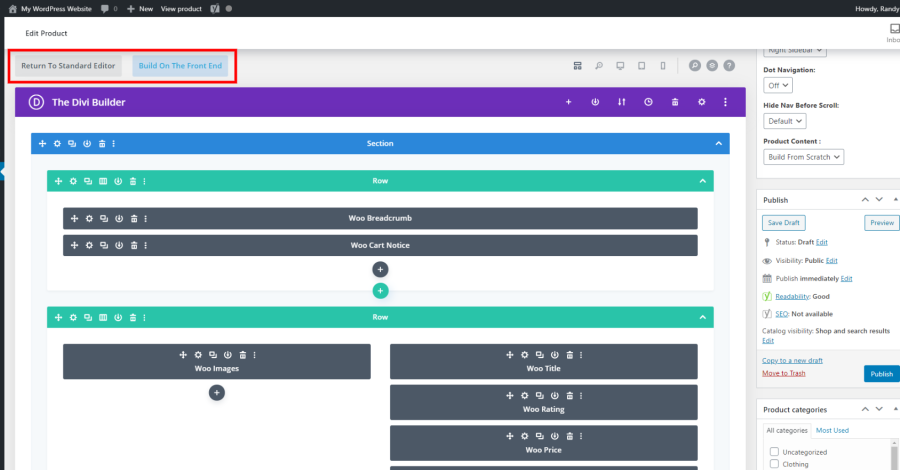 Enable Divi Builder On Post Types