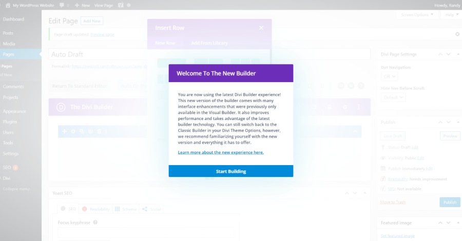 Enable The Latest Divi Builder Experience