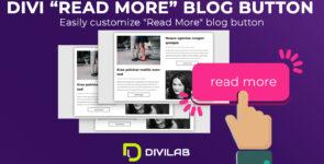 "Divi ""Read more"" Blog button on Divi Cake"