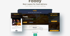 """""""Foody"""" a perfect layout for food delivery on Divi Cake"""
