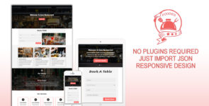 Foodies – Restaurant / Cafe Single Page Layout on Divi Cake