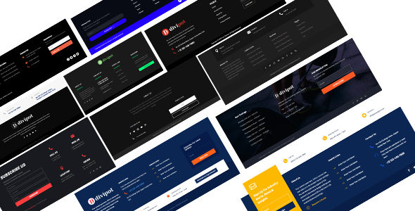 46+ Footer layout Pack on Divi Cake