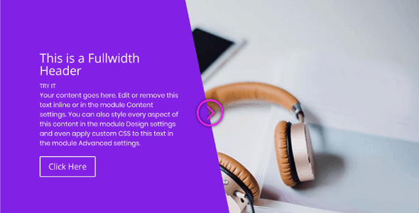 Fullwidth 'Draggable' Header on Divi Cake
