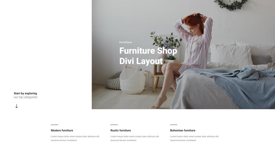 Furniture Shop Divi Layout