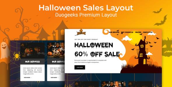 Halloween Sales Layout on Divi Cake
