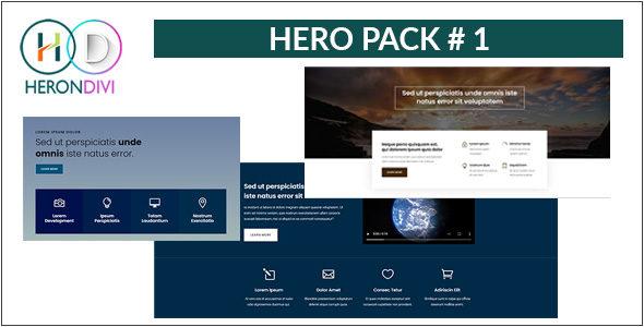 Hero Pack 01 on Divi Cake