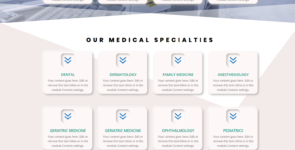 Hospital Website Landing Page on Divi Cake
