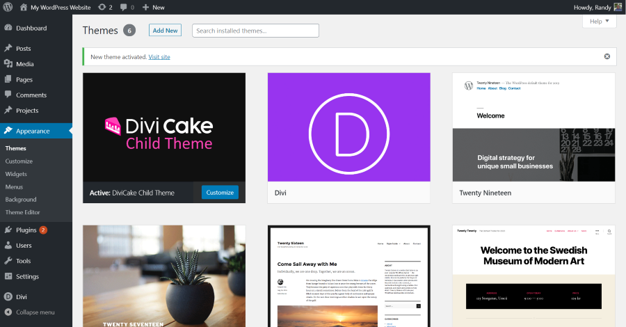 How to Install a Divi Child Theme