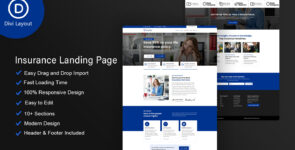 Insurance Layout on Divi Cake