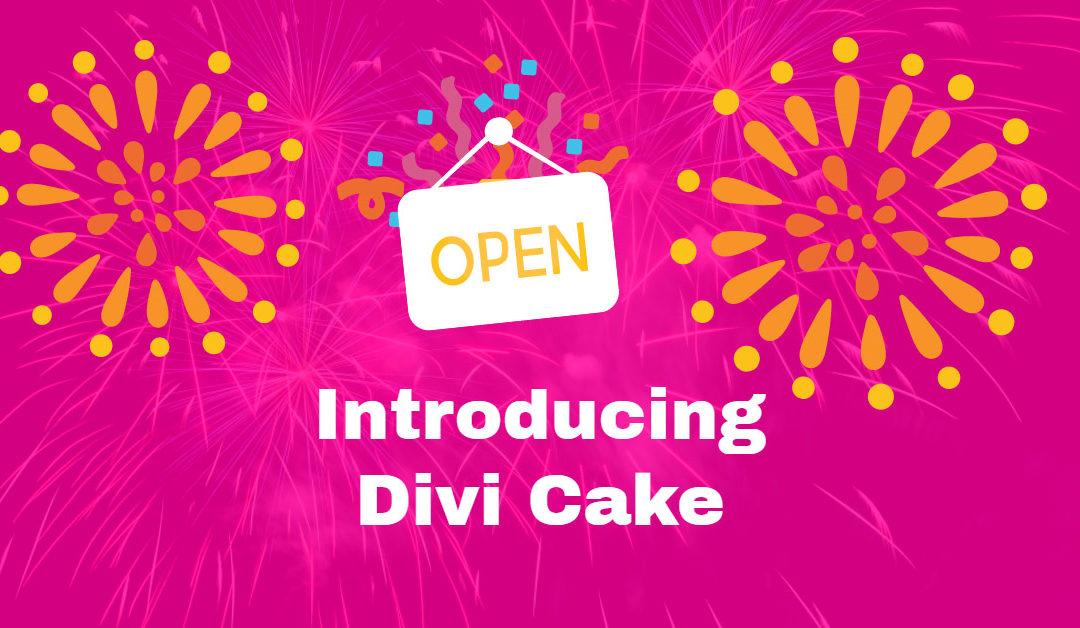Introducing Divi Cake, Community Driven Divi Marketplace