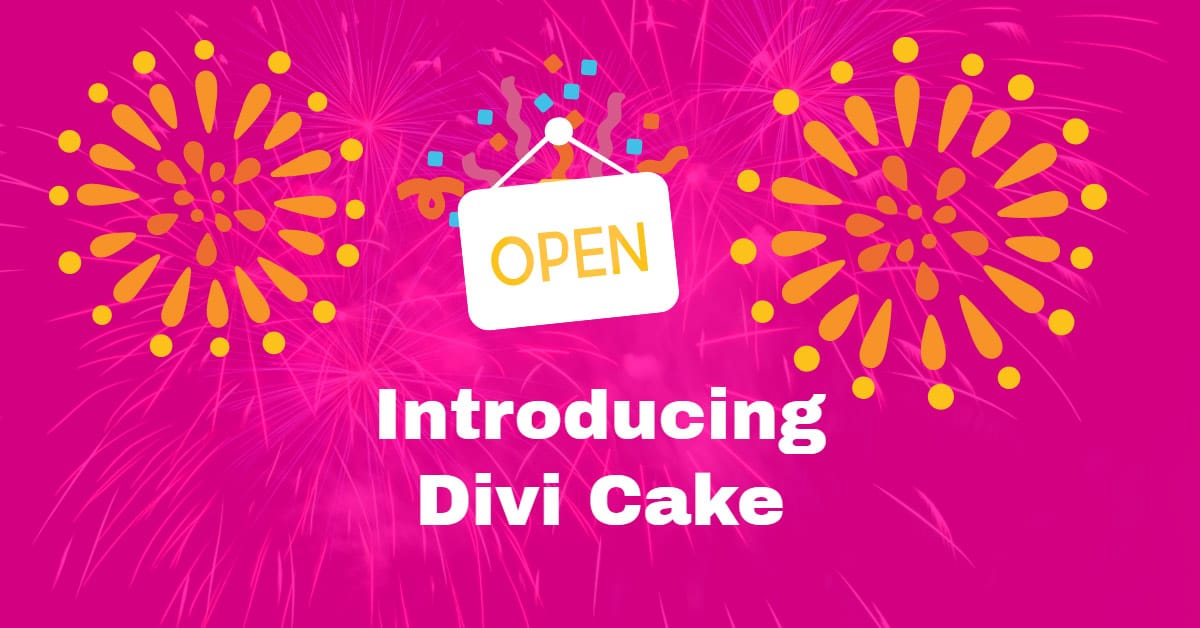 Introducing Divi Cake, Community Driven Divi Marketplace
