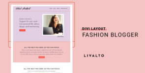 IRL – Simple Home Layout on Divi Cake