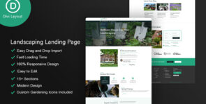 Landscaping Layout on Divi Cake