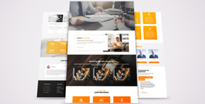 Law Firm Layout on Divi Cake