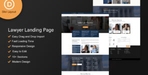Lawyer Layout on Divi Cake