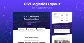 Divi Logistics Layout on Divi Cake