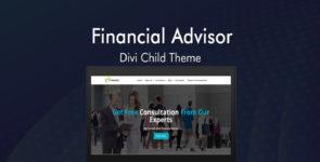 Financial Advisor Divi Child Theme on Divi Cake