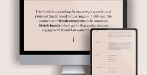 Minimalist Personal Brand/Agency 1-Page DIVI Layout on Divi Cake