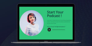 Podcast Studio Divi Single Page Layout on Divi Cake