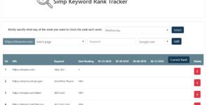 Simp Keyword Rank Tracker on Divi Cake