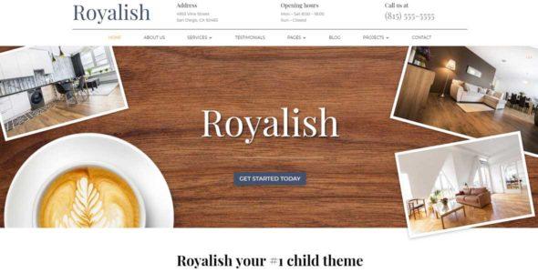 Royalish on Divi Cake