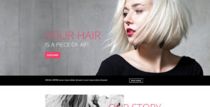 Stylist Header & Intro Section on Divi Cake