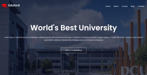 Responsive Multipage University / School Website on Divi Cake