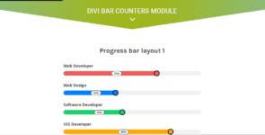Divi Progress Bar Module Layout Pack on Divi Cake