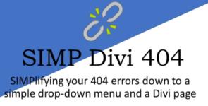 Simp Divi 404 on Divi Cake