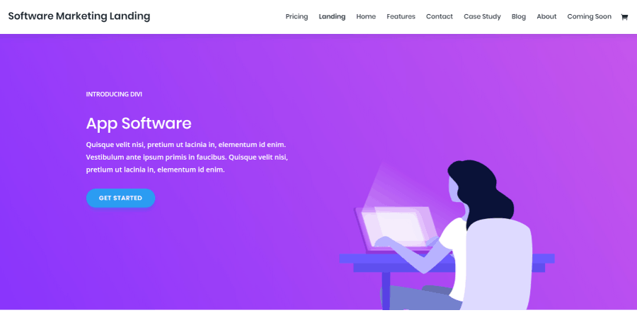 Software Marketing Divi Landing Page Layout