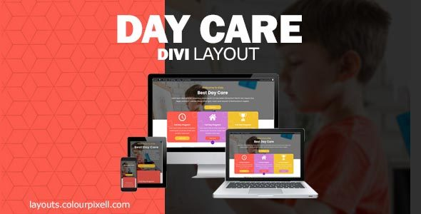 Divi Day Care Layout on Divi Cake