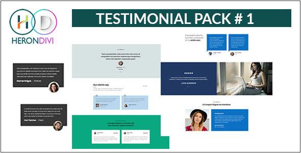Testimonial Pack 01 on Divi Cake