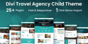 Travel Agency Divi Child Theme on Divi Cake