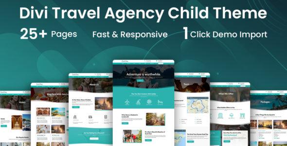 Travel Agency Divi Child Theme on Divi Cake