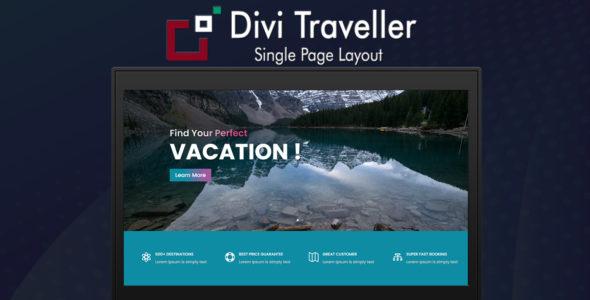 Divi Traveller Single Page Layout on Divi Cake