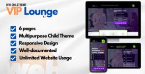 VIP-Lounge Multipurpose Child Theme on Divi Cake