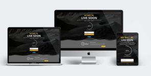 Divi Website Live Soon Layout on Divi Cake