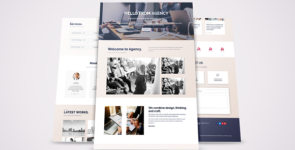 Web Agency Layout on Divi Cake