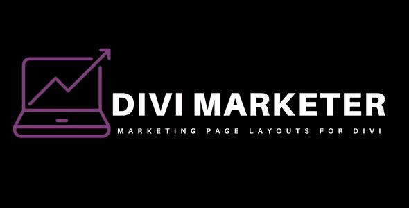 Divi Marketer Layout Pack on Divi Cake