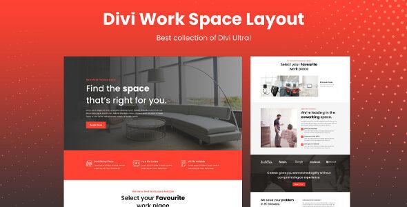 Divi Workspace Layout on Divi Cake