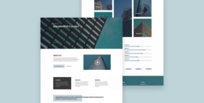 Architect Divi Layout on Divi Cake