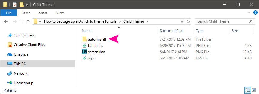 Create auto-install directory
