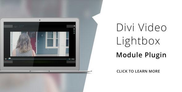 Divi Video Lightbox on Divi Cake