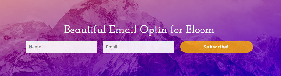 Beautiful Bloom email optin