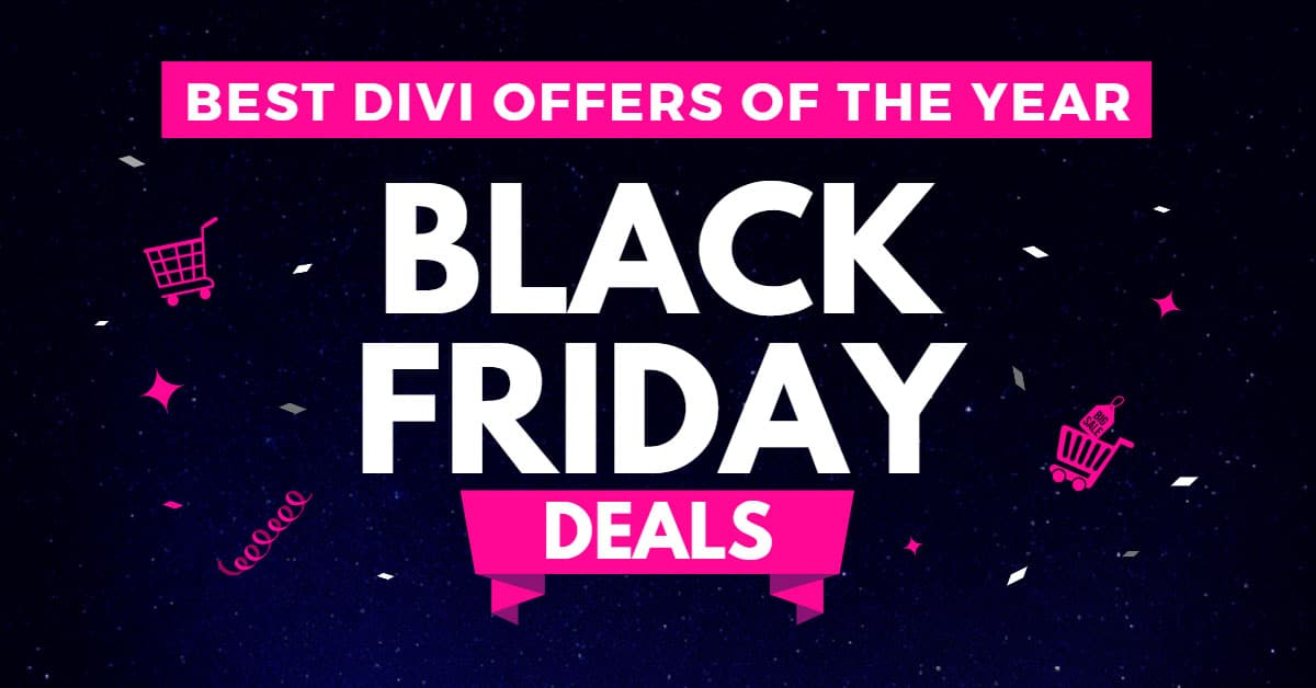 Best Divi Black Friday Deals (2020)