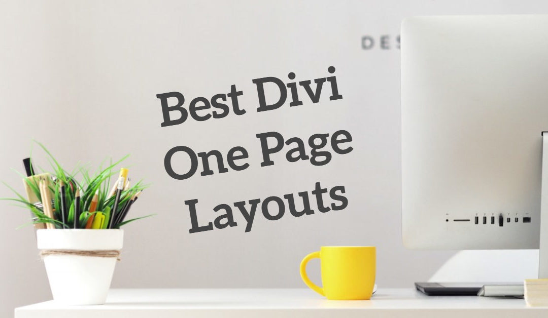 Best Divi One Page Layouts
