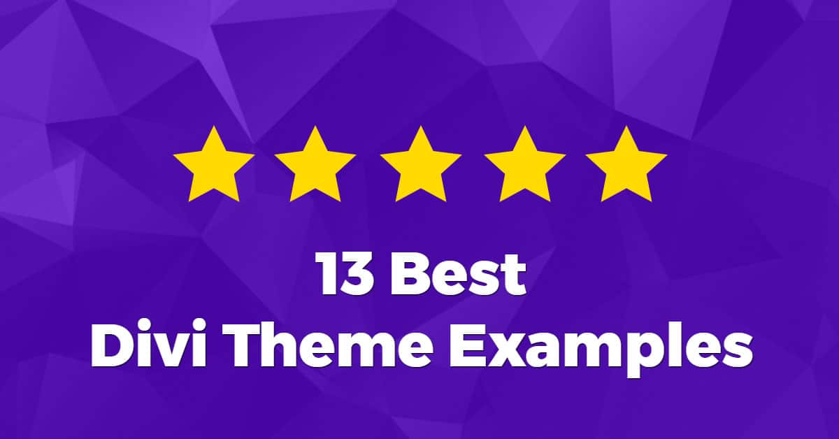 13 Best Divi Theme Examples (2018)
